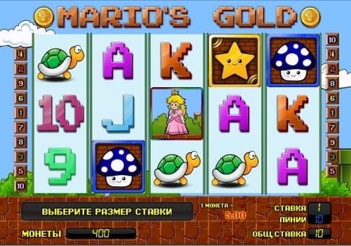 Игровые автоматы с выводом денег на карту Mario's Gold